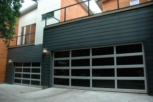 contemporary style glass garage door whitefish bay